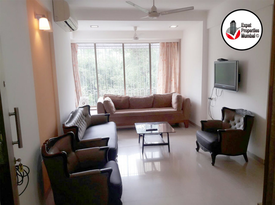 Well furnished 1bhk apartment for rent in carter road bandra for 1 bhk flat interior decoration image