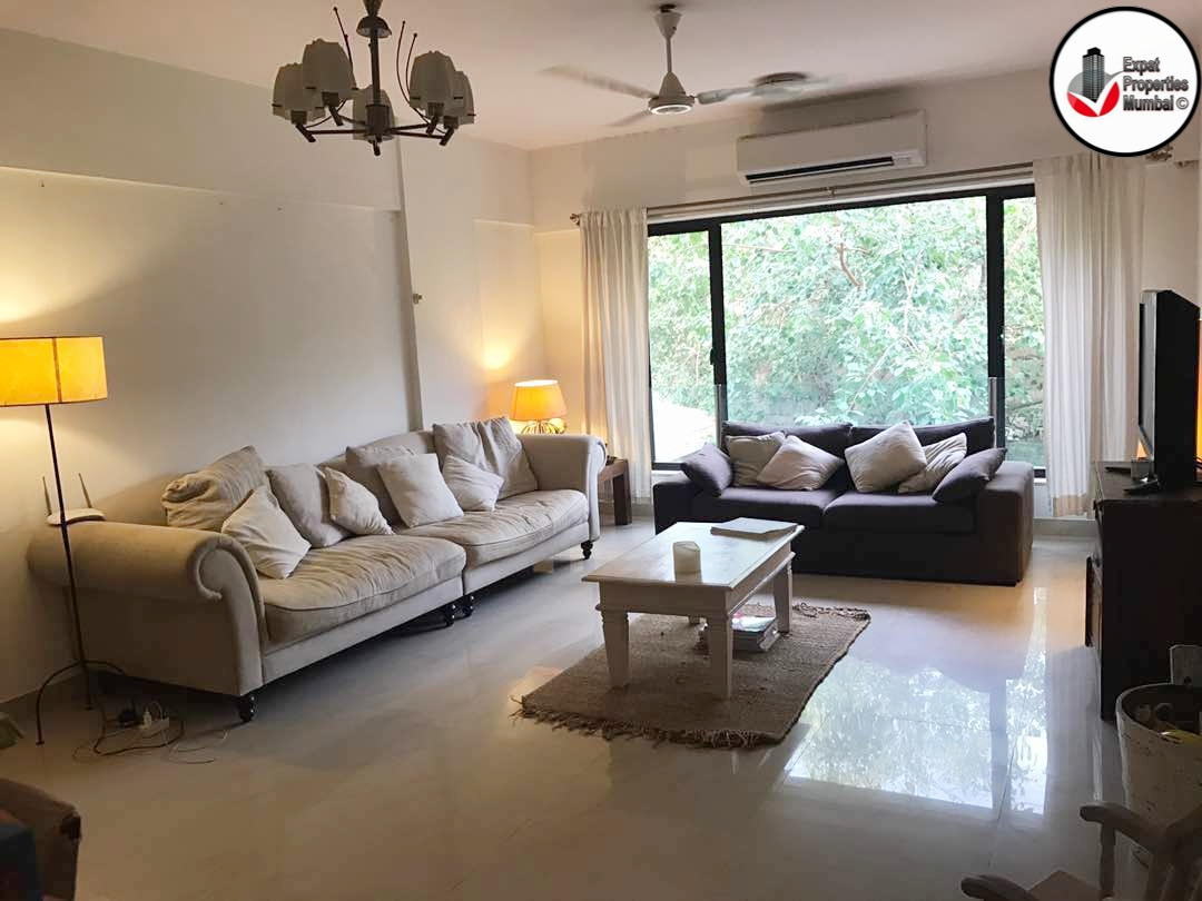 Large 3 Bhk Apartment With A Private Terrace For Rent In Juhu Tara Road